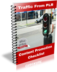 Traffic from PLR Checklist